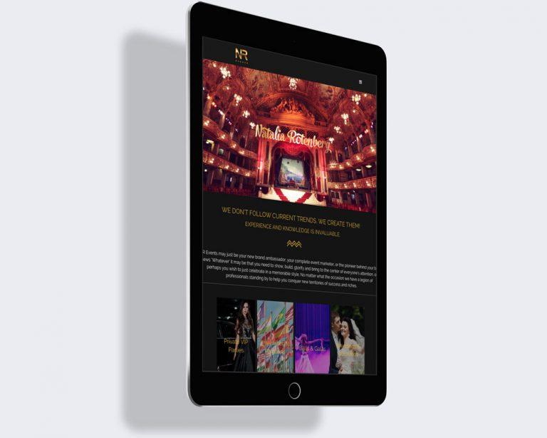 NR events and management website design