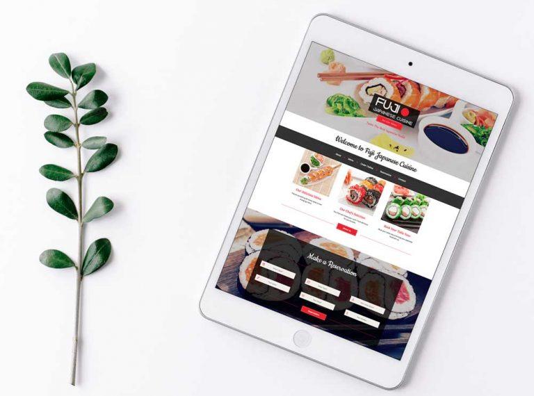 fuji restaurant website design