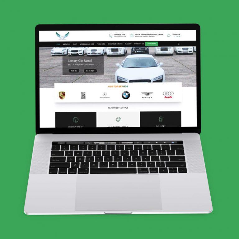 SPMhire luxury car website design