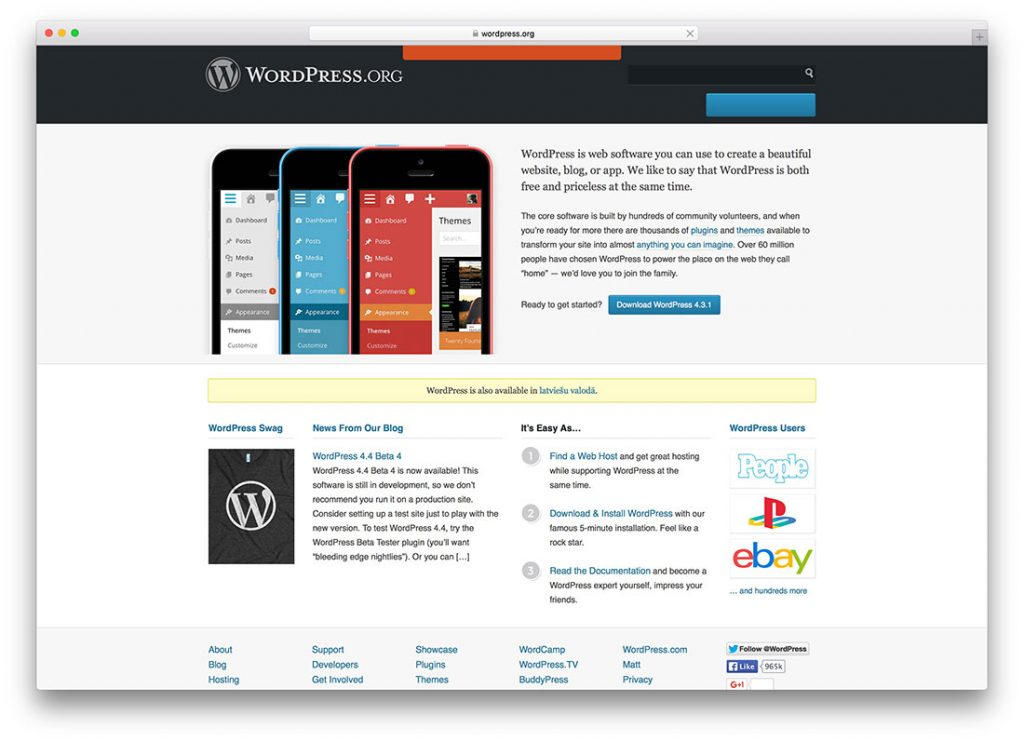 What is WordPress cms?